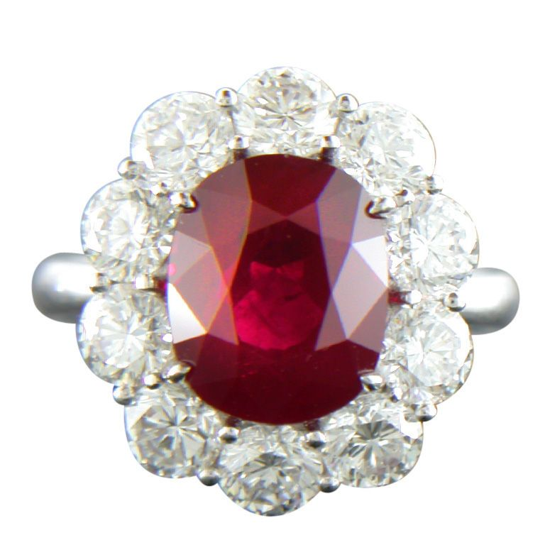 Custom Burma Ruby Ring: SHREVE, CRUMP & LOW Exquisite Burma Ruby Ring