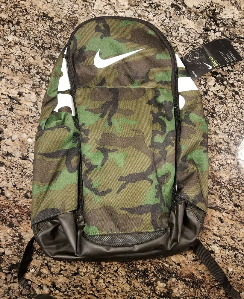 9310007a7333 Nike Brasilia Backpack Camo XL Just Do It BA5482-333 Camouflage Laptop Gym  Bag  Nike  Backpack