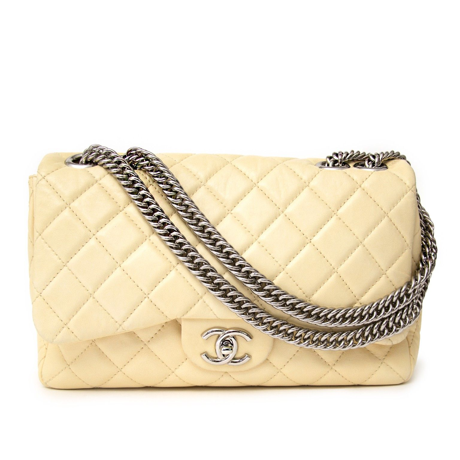 b44f519d Labellov Chanel Cream Soft Jumbo Single Flap Bag ○ Buy and Sell ...