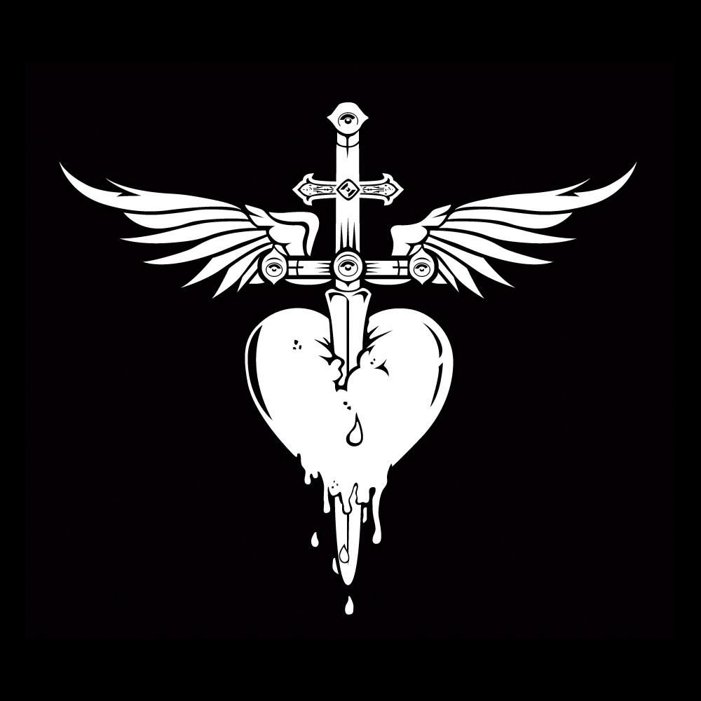 Click Here To Purchase This Official Bon Jovi Heart N Dagger Decal Sticker Bon Jovi Desenhos Aleatorios Tatoo
