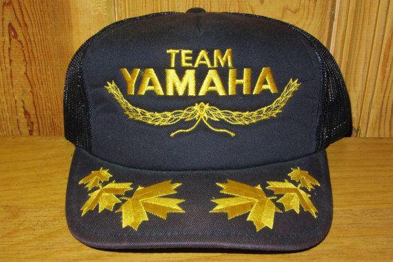 1c06d40e01a TEAM YAMAHA Motor Canada Original Motocross Vintage 80s Black Mesh ...