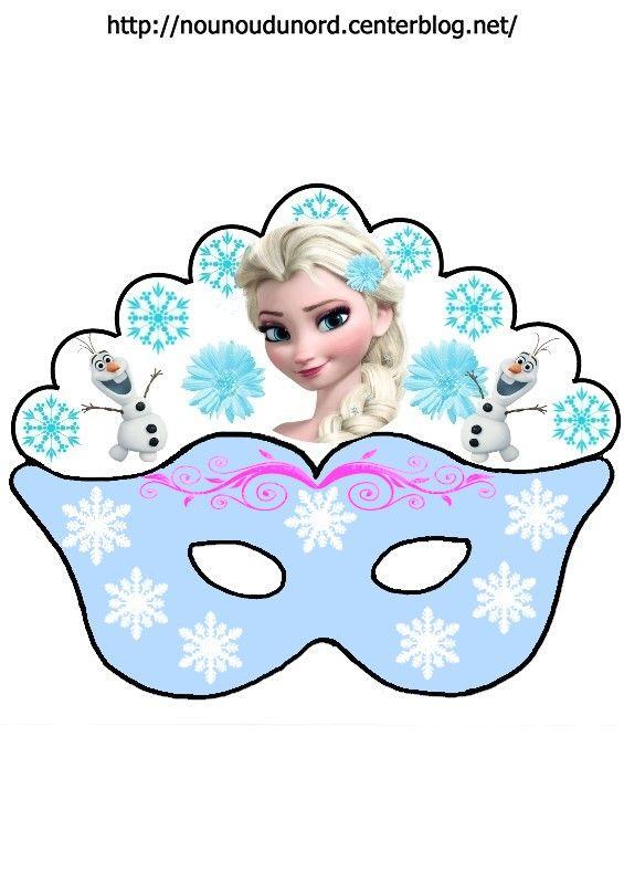 Masque reine des neiges d 39 autres mod les sur mon blog http - Masque de carnaval a imprimer ...