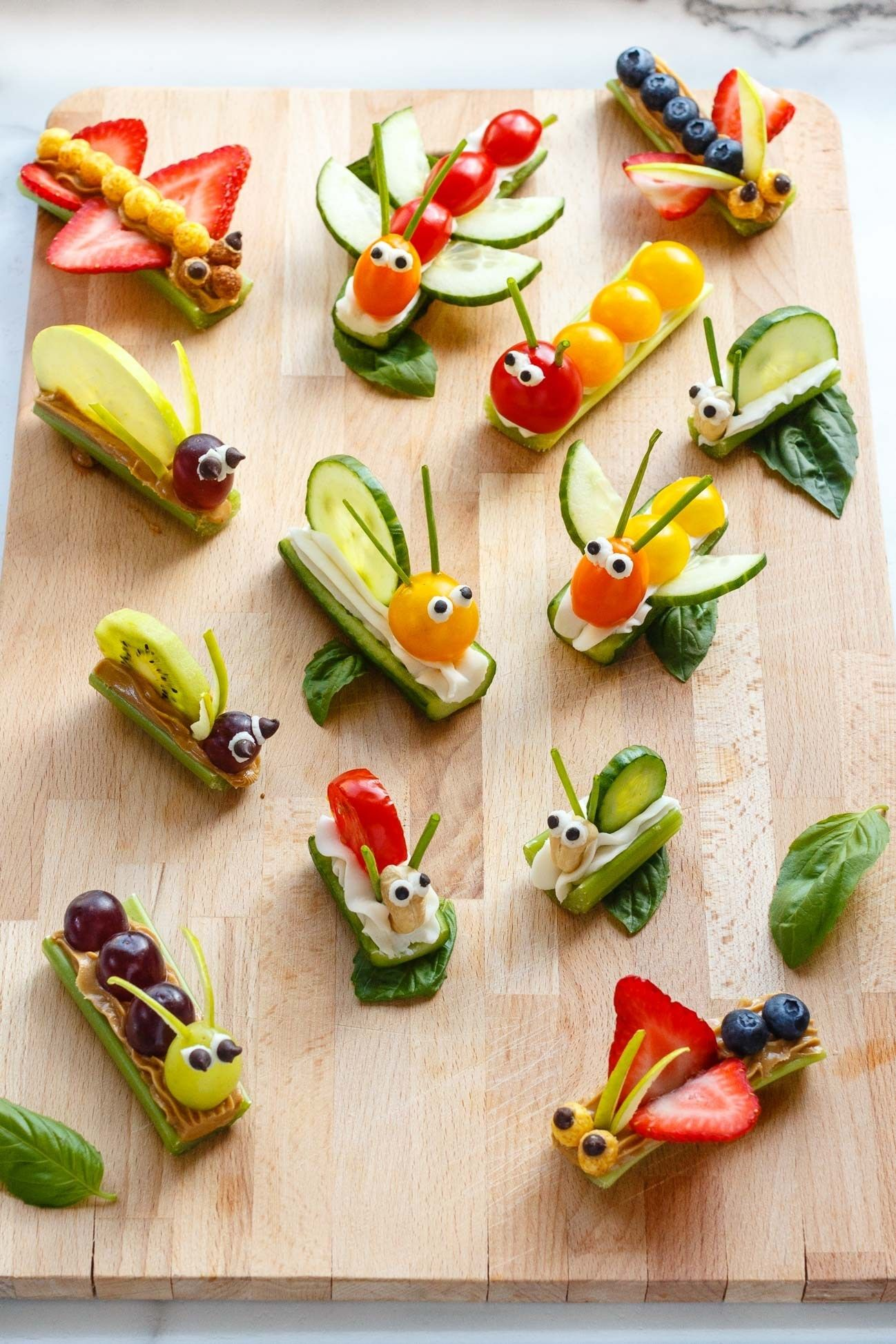 Fruit & Vegetable Bug Snacks for Envirokidz | The Fair Tree #eyeshaveit