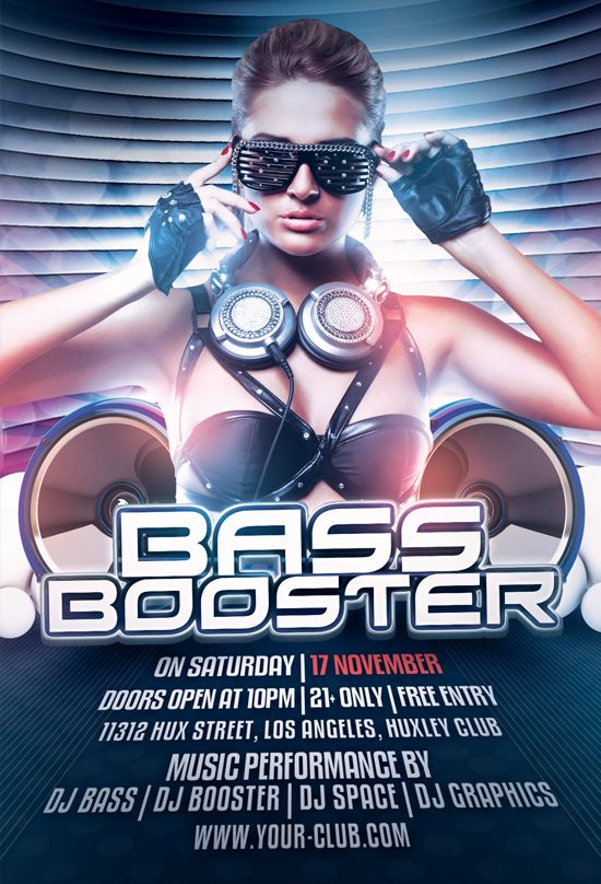 Bass Booster Free PSD Flyer Template Download Free Flyer Templates - download free flyer templates word