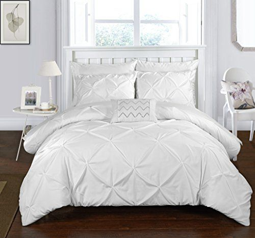Chic Home 3 Piece Daya Pinch Pleated Ruffled Duvet Cover Sets Chic Home Duvet Covers