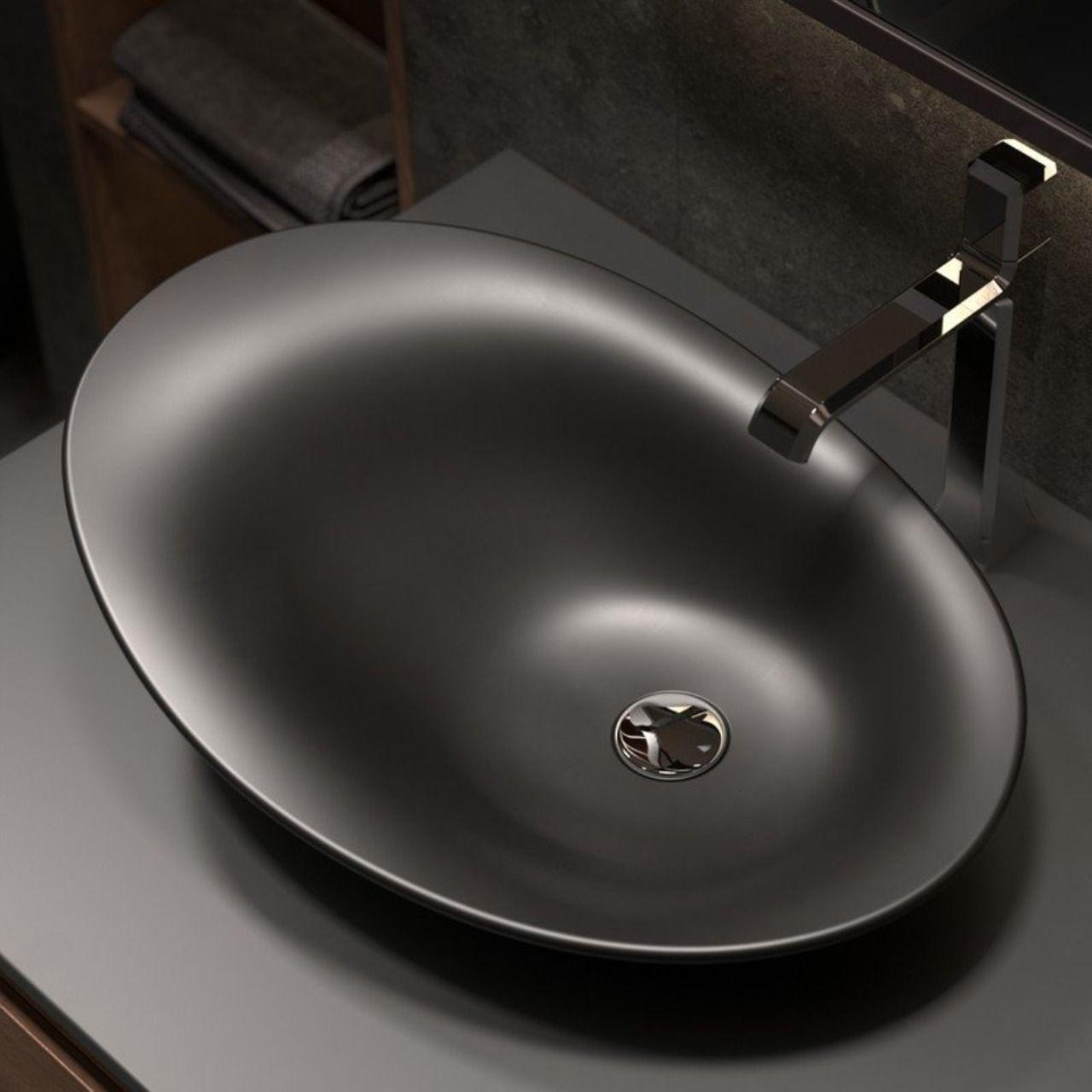 Aquatica Nanomorph Blck Stone Bathroom Vessel Sink Drop In Bathroom Sinks Vessel Sink Bathroom Stone Bathroom