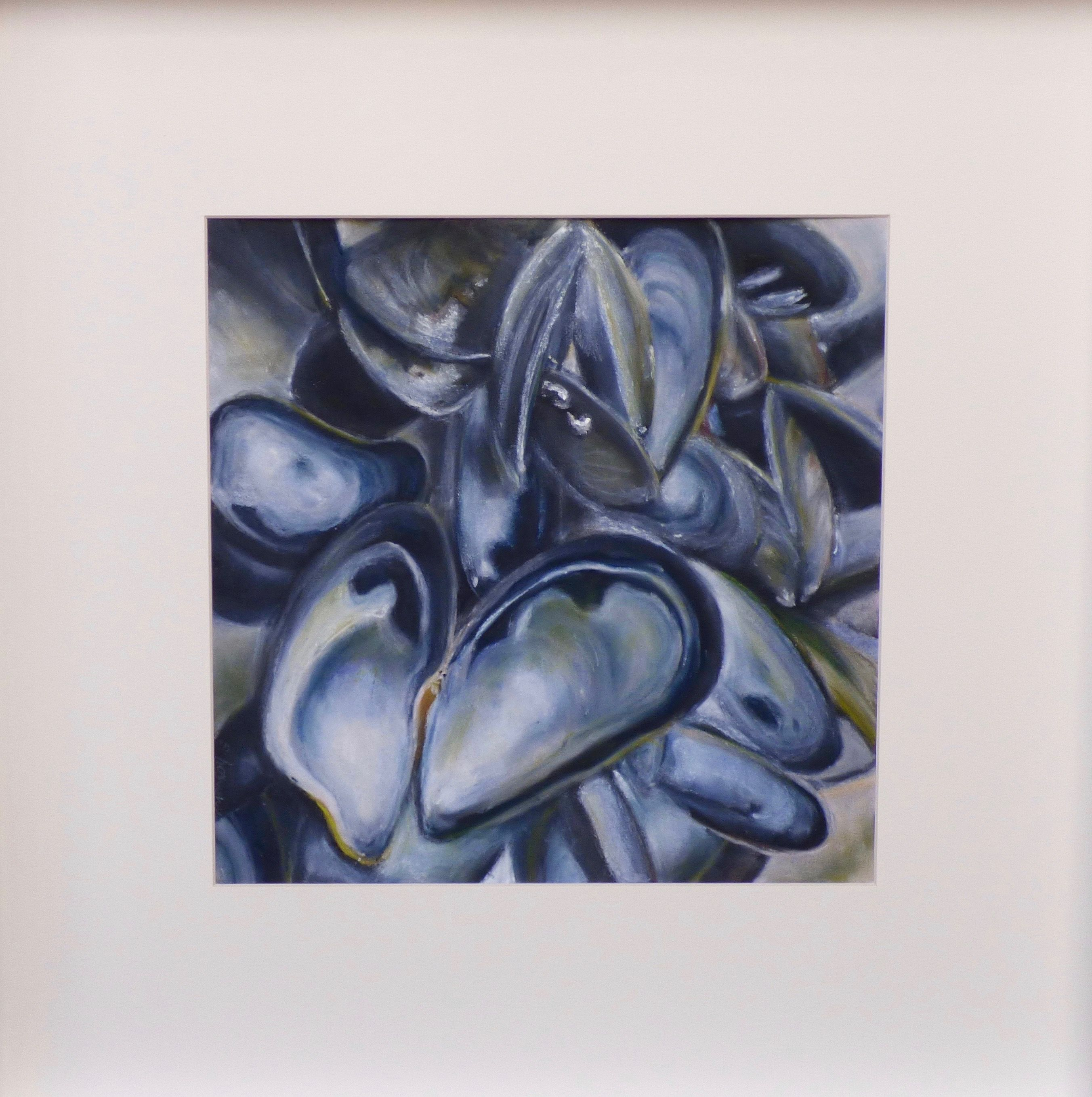 Mussels Pastel On Paper Sea Life Art Art Painting