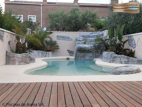 Piscinas De Arena In 2020 Backyard Pool Landscaping Pool