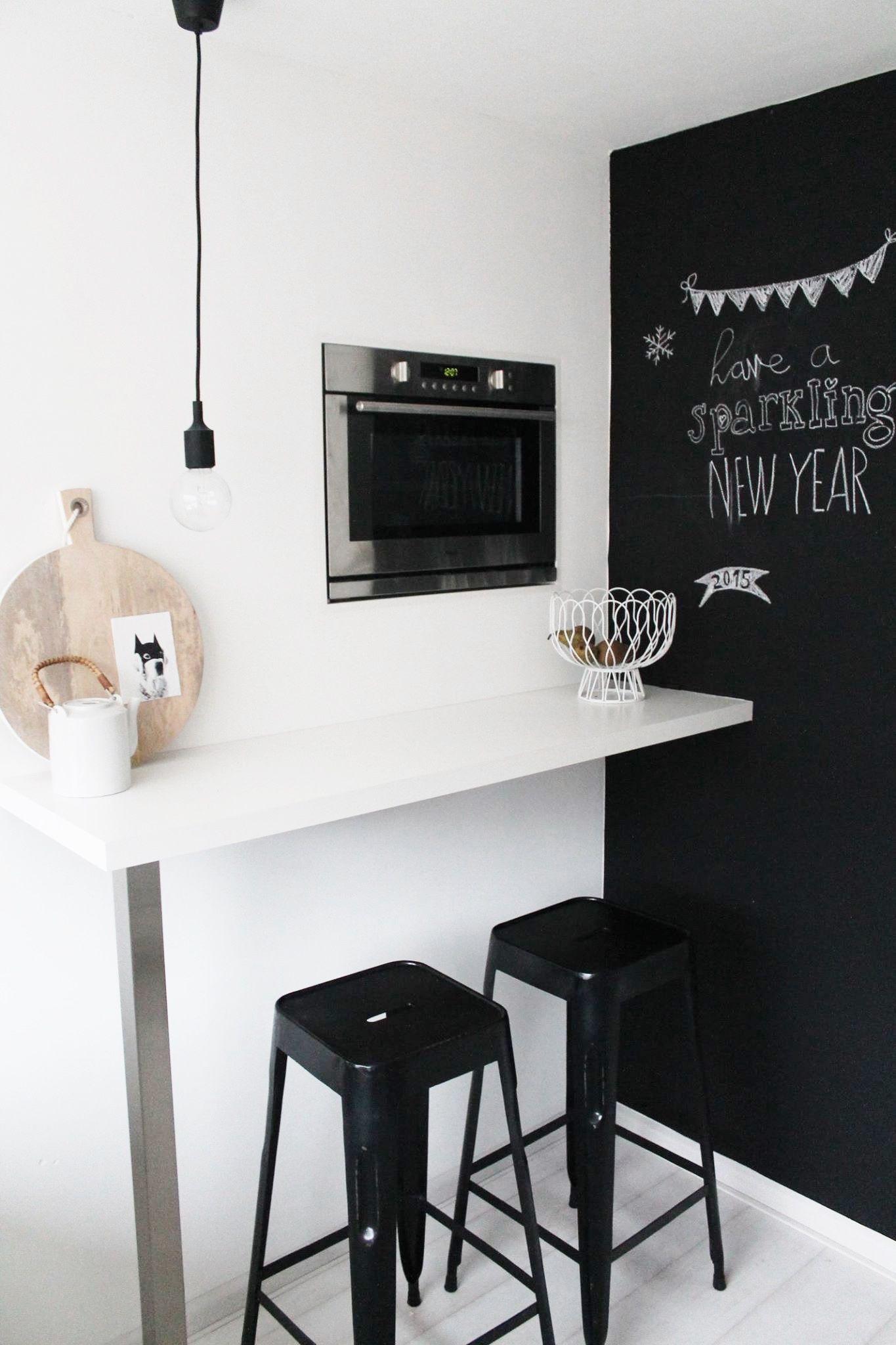 Pared de pizarra en la cocina deco kitchen pinterest - Pizarras de cocina ...