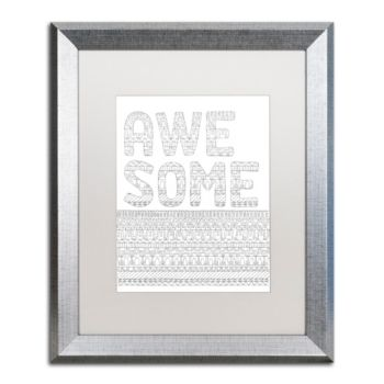 Letters Words 5 Matted Framed Art
