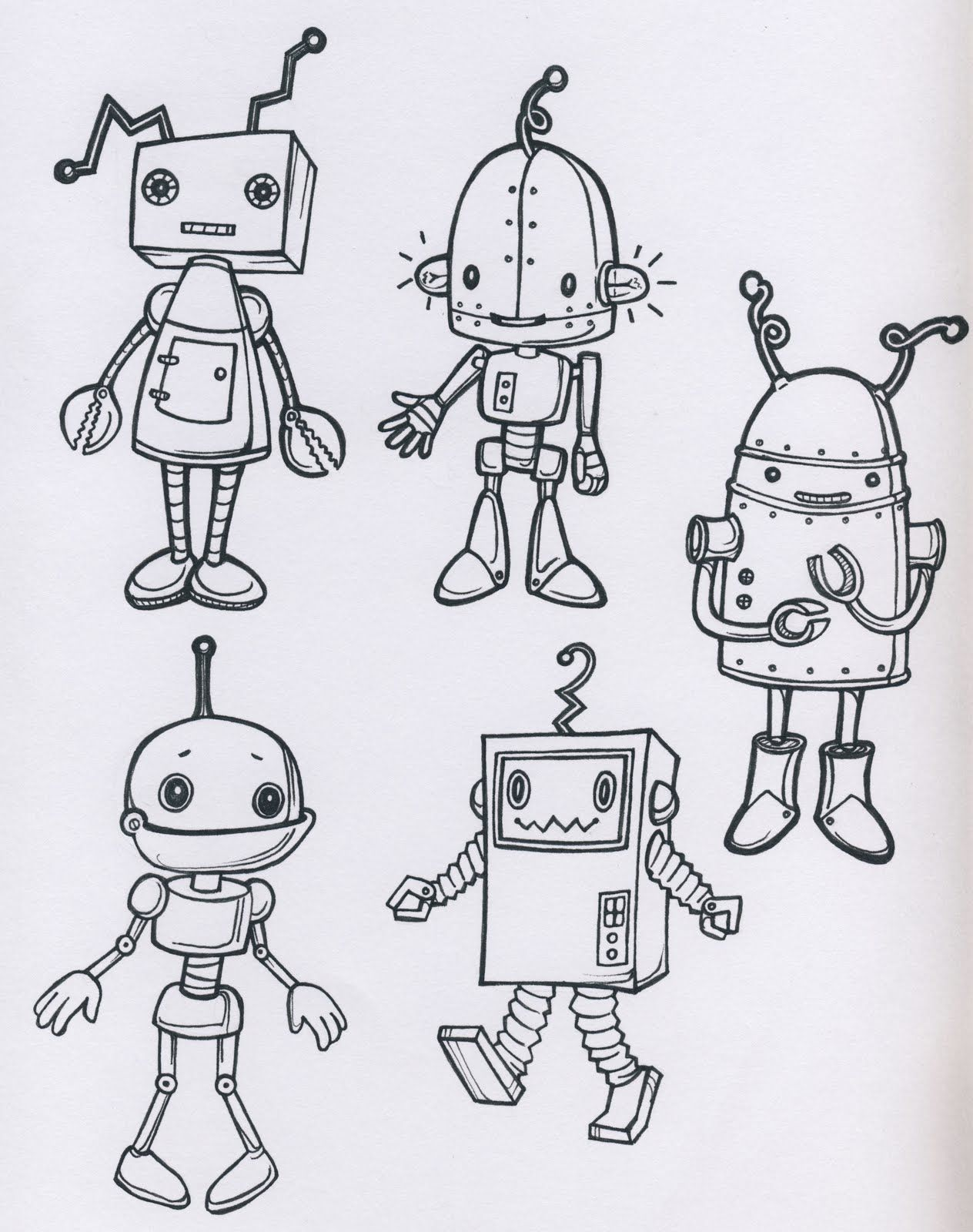 Uncategorized Draw A Robot robots robot nursery and doodles i never knew that liked drawing but they are so fun cause pretty much anything goes it has become our sunday ritual to draw robot