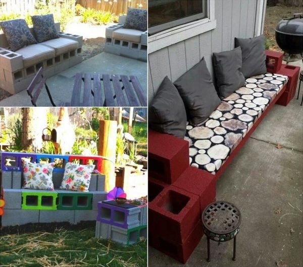 Surprising Diy Garden Benches And Tables Made With Cinder Blocks Gmtry Best Dining Table And Chair Ideas Images Gmtryco