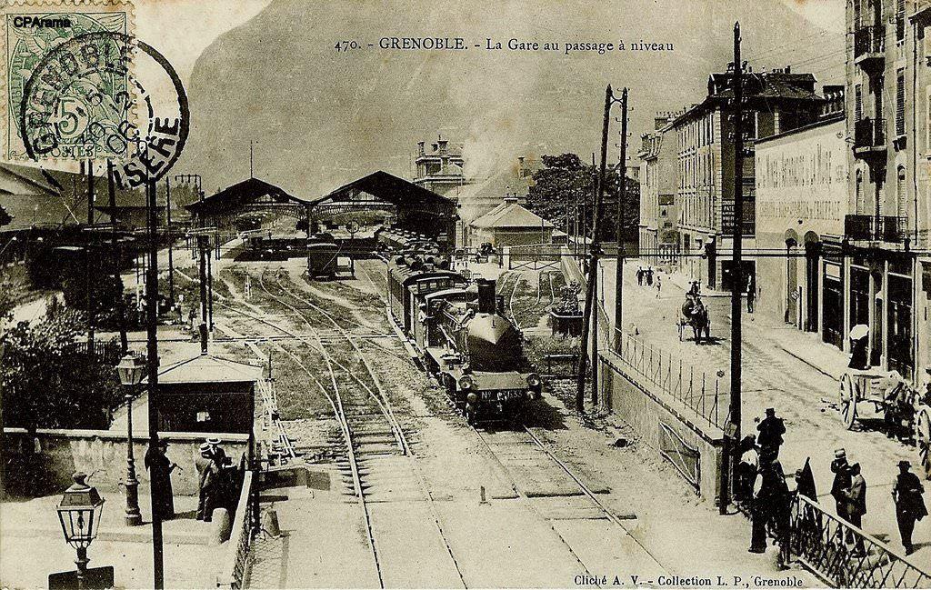 Grenoble 38 Trains Moirans Carte Postale