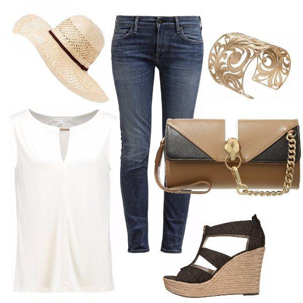 Organizzate un pomeriggio di shopping con le amiche e ricordate di essere fashion anche per l'occasione, senza dimenticare il cappello per ripararvi dal sole! Con un look così siete pronte anche per l'aperitivo.