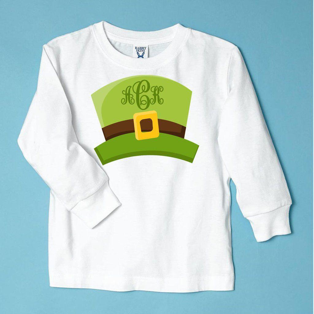 3b26a53f2 Leprechaun Girl Hat St. Paddy's Day Monogrammed Children's T-Shirt ...