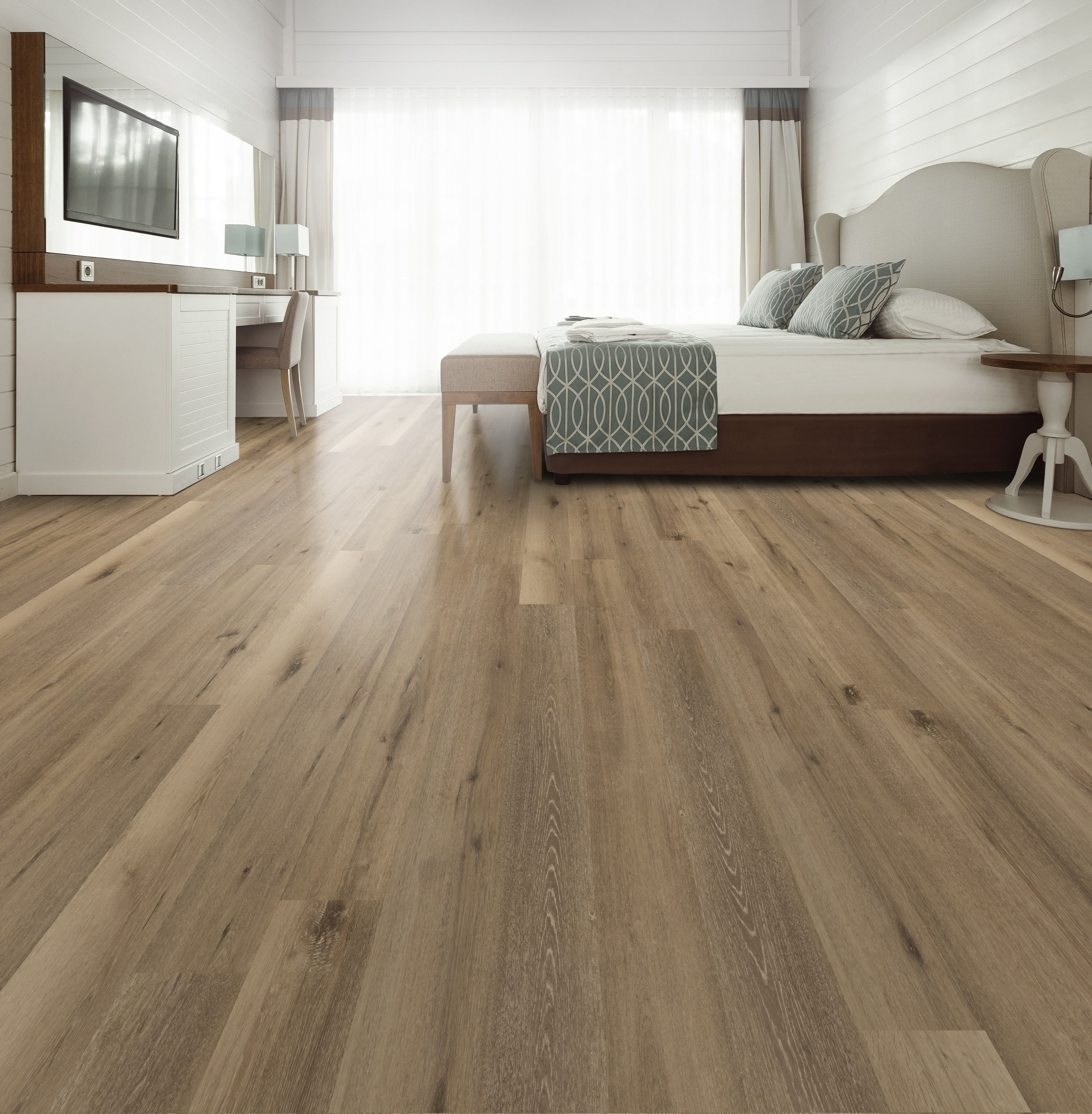 Aged Hickory Click Together Vinyl Flooring Hifi Wood Grain Imaging Texture Commercial Grade 20mil Wear Layer 100 Waterproof Construction Built In