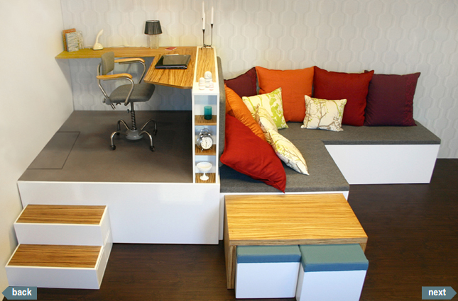 Estrade pour un bureau avec lit escamotable | Home sweet home ...