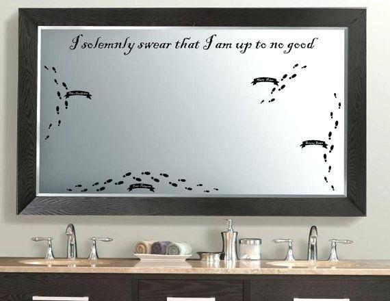 Mirror Decals For Bathrooms Harry Potter Bathroom Decor