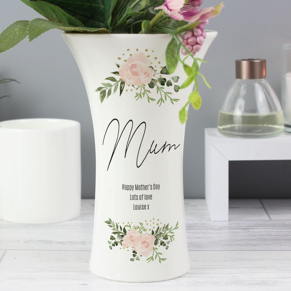 Personalised I/'d Pick You Flower Vase Mothers Day Birthday Mum Nan Auntie