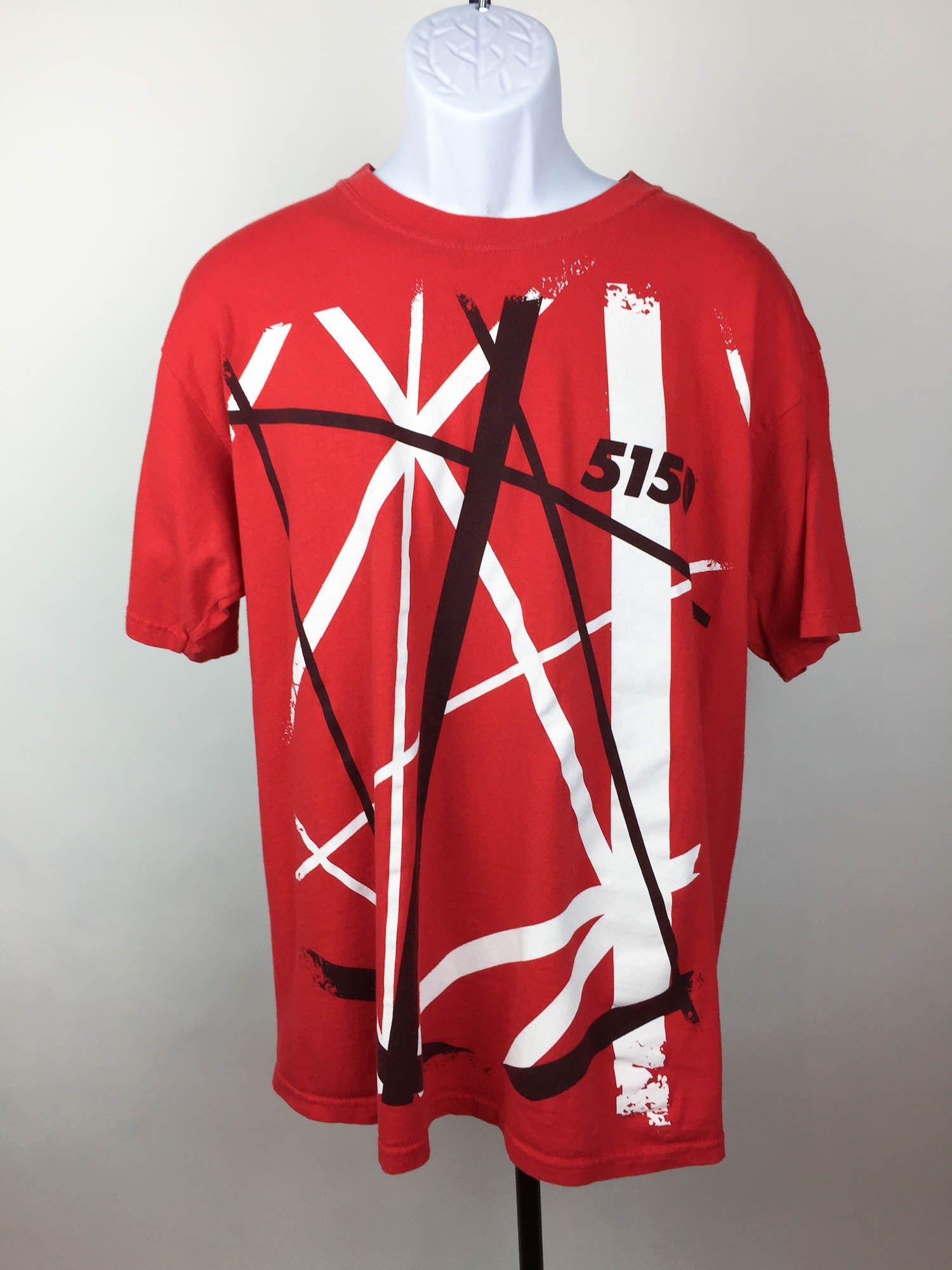 5150 Frankenstein Striped Shirt Large Eddie Van Halen Blamm Striped Shirt Shirts Van Halen