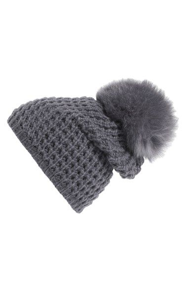 14b37c1b91b Free shipping and returns on Kyi Kyi Genuine Fox Pompom Hat at Nordstrom.com .