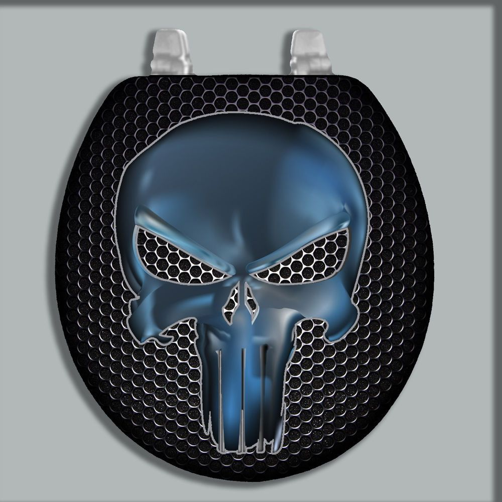 CUSTOM PAINTED/AIRBRUSHED TOILET SEAT SKULL (STANDARD & OBLONG SIZE ...