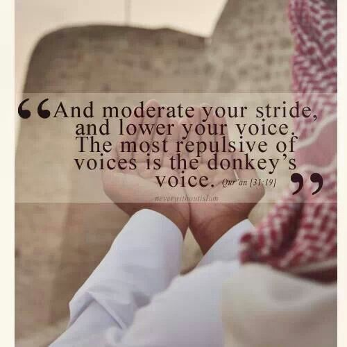 Islam also teaches us good manners is there any other religion that teaches what kind of voice should you use when you talk?