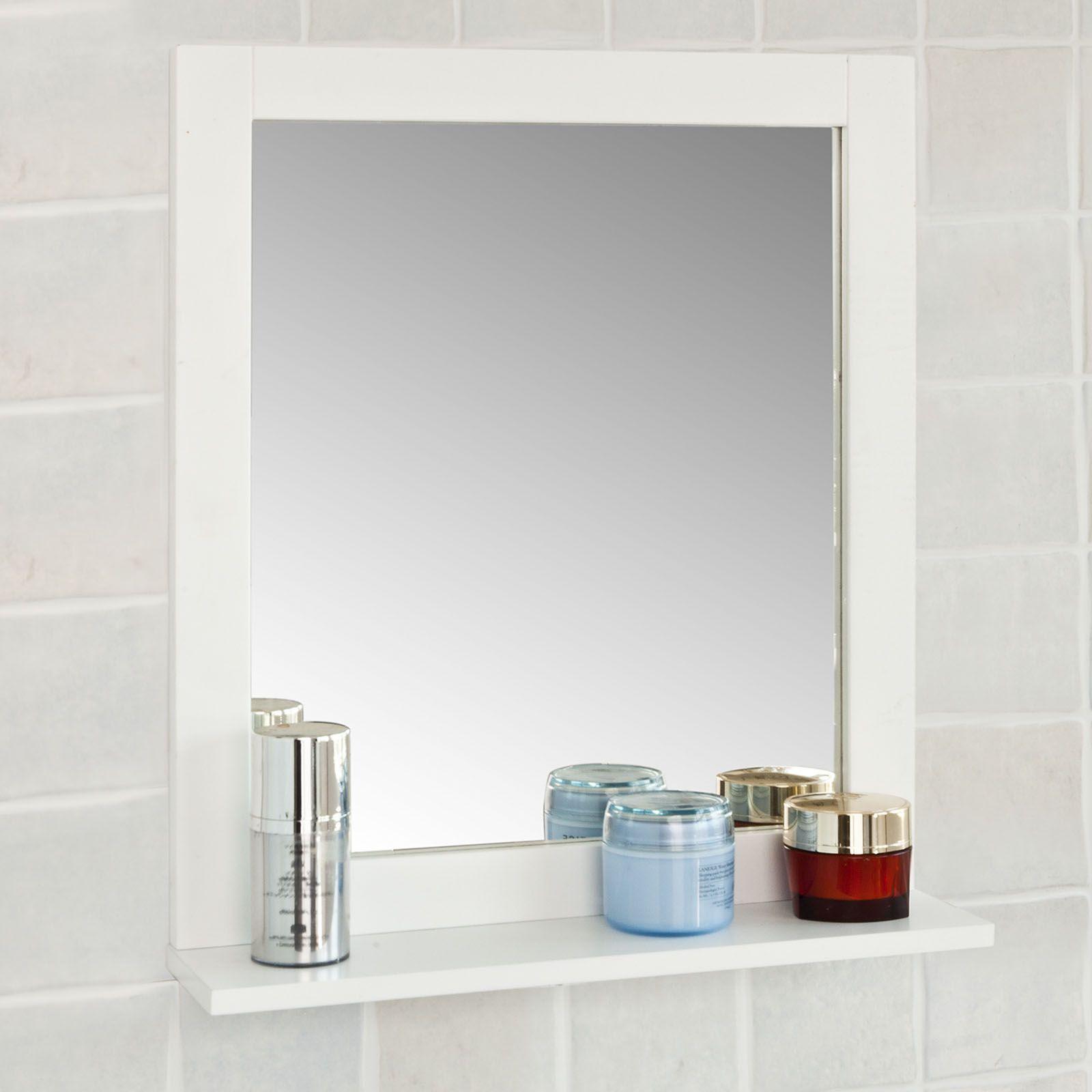 Specchio Bagno Specchio Da Parete Mensola Bagno Bianco A Muro