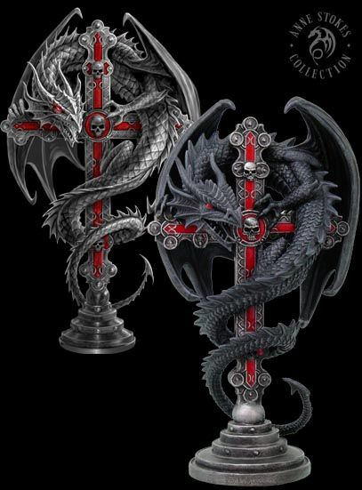Altar Drake sculpture by Anne Stokes