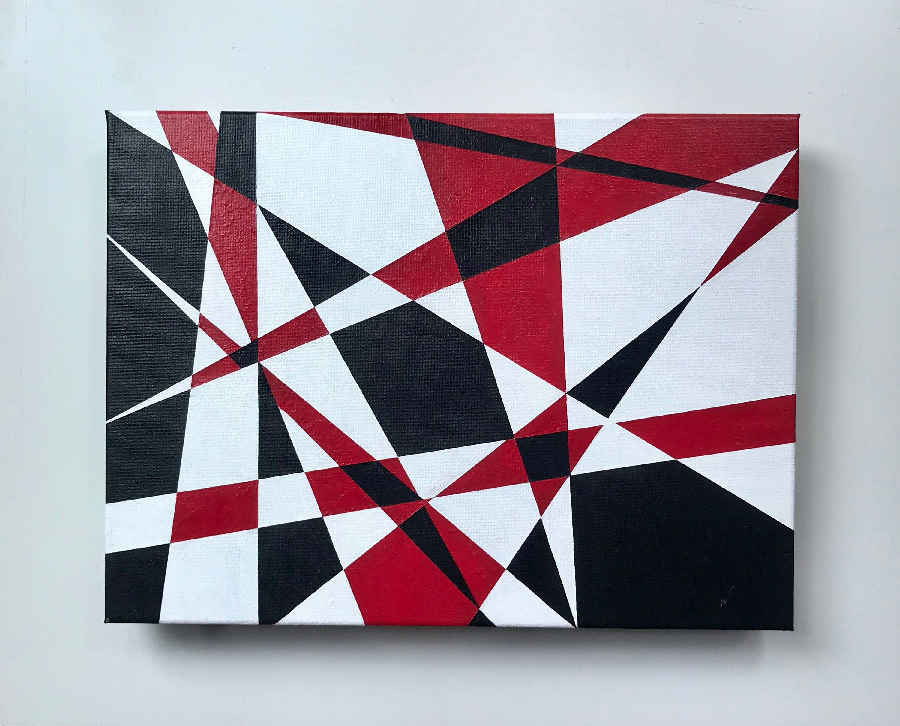 12x16 Red Black And White Geometric Abstract Modern Art Etsy Modern Art Paintings Abstract Modern Art Abstract Etsy Painting