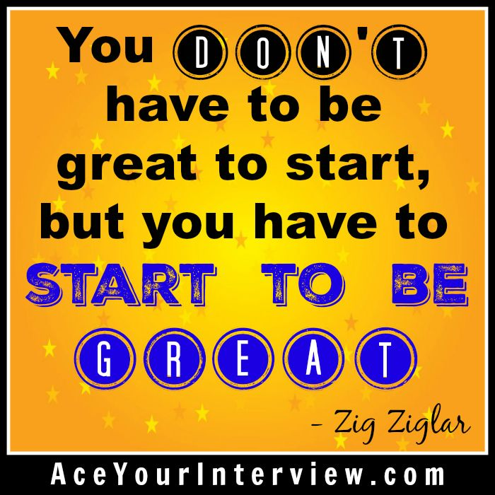 ZigZiglar #quote - just start! #job #interview #hiring #jobs #Job - linkedin resume search