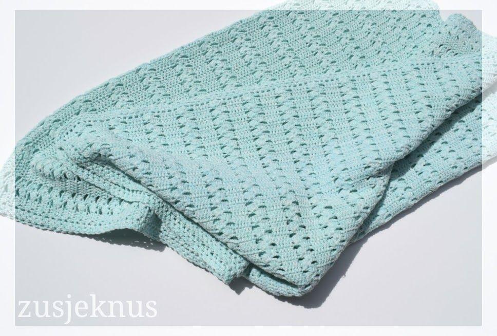 Zusjeknus -Gratis haak patroon gehaakt deken \'Louisa\' - Voor mijn ...