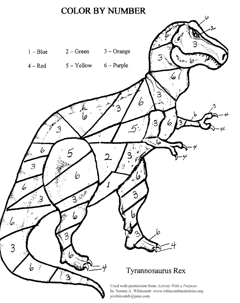 Color By Number Printables Coloring Rocks Free Coloring Pages Dinosaur Coloring Pages Dinosaur Coloring Coloring Pages For Kids