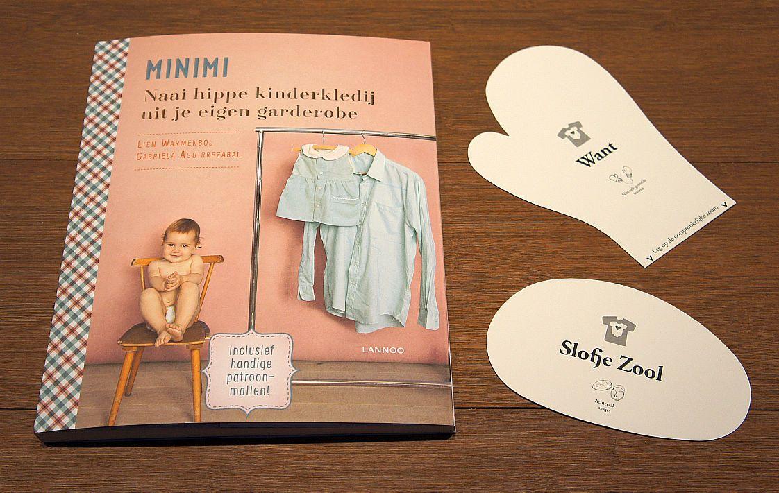 Het boek 'Minimi - Naai hippe kinderkledij uit je eigen garderobe' toont hoe je bestaande kledij met schaar en draad kan omtoveren tot een nieuwe outfit voor je kind.