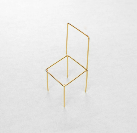Sang A Studio Chair Earring Triangle Earrings Stud Geometric Studs Triangle Studs