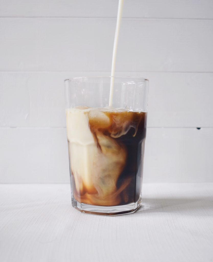 Iced Latte, Coffee Cubes
