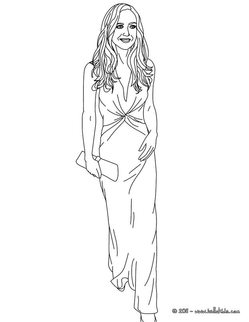 beautiful kate middleton coloring page more kate and wiliam