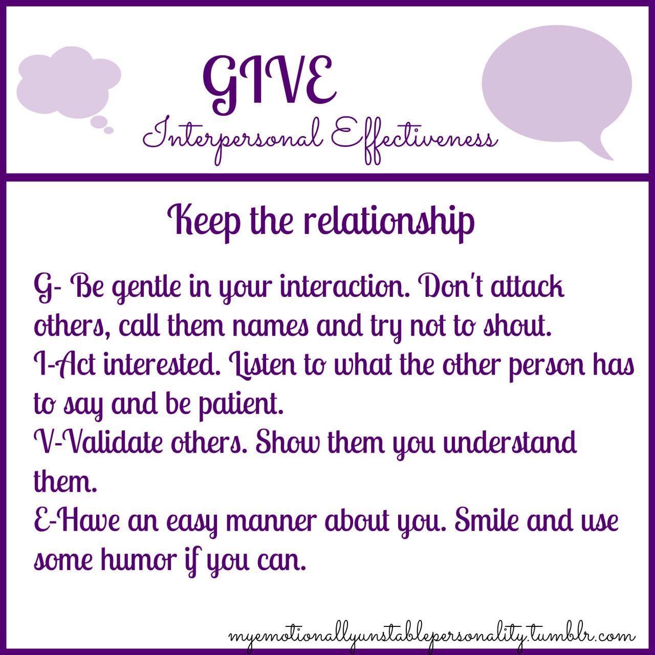 Interpersonal Effectiveness Acronym