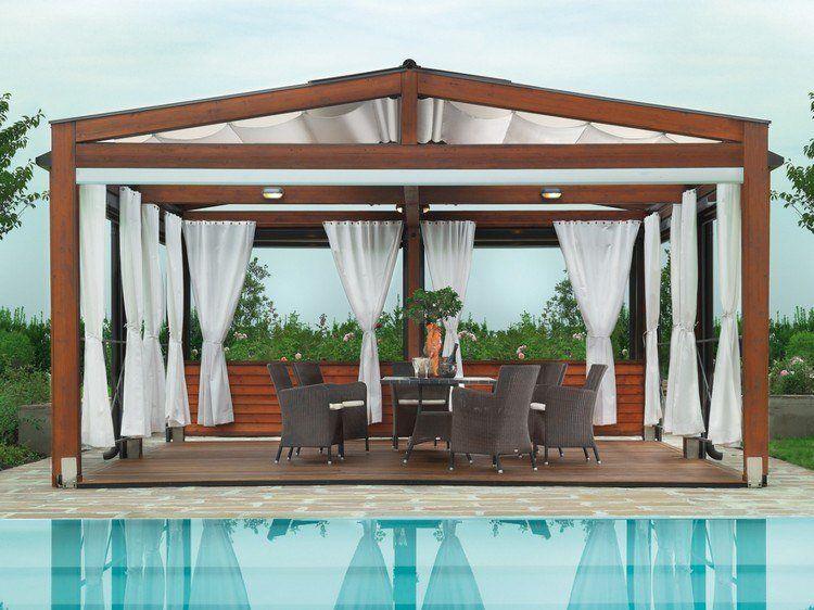 Pergola en bois pour la terrasse en 22 exemples superbes! Pergolas