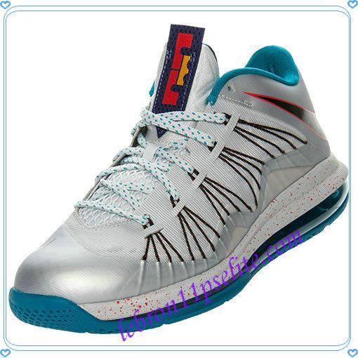 4290d5c39a3 Nike Air Max Lebron X Low Metallic Platinum Black Tropical Teal 579765 002