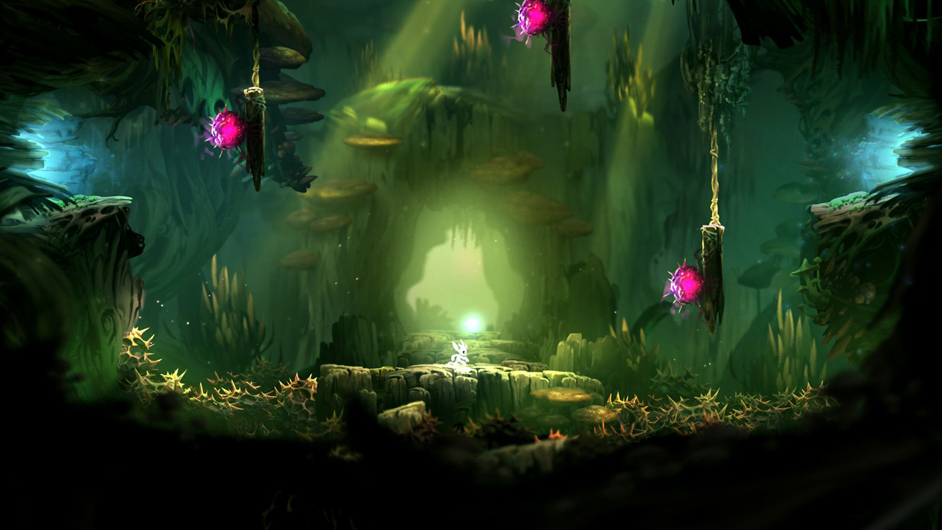 Official Ori And The Blind Forest Leading The Blind Environment Design Concept Art Forest Games