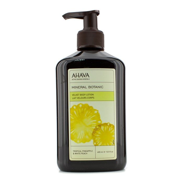 Ahava Mineral Botanic Velvet Body Lotion - Tropical Pineapple & White Peach 400ml/13.5oz Skincare