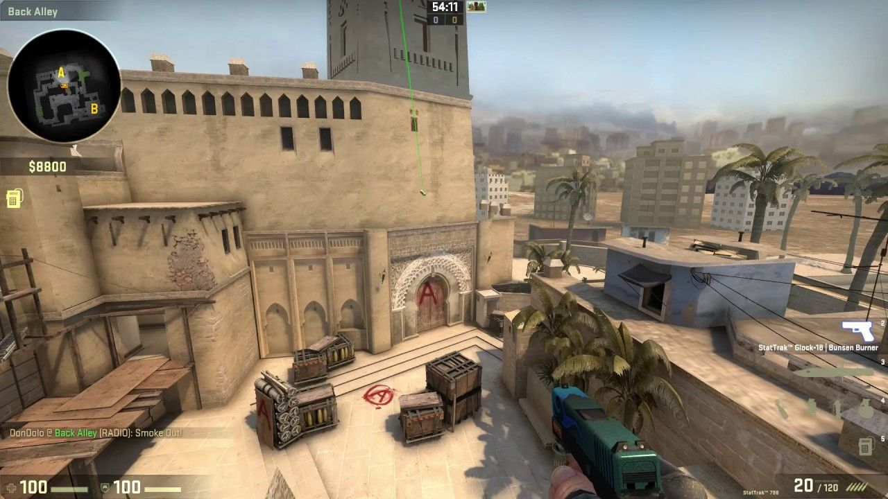 CSGO Tips Tricks and Tutorials - Mirage A site CT smoke from