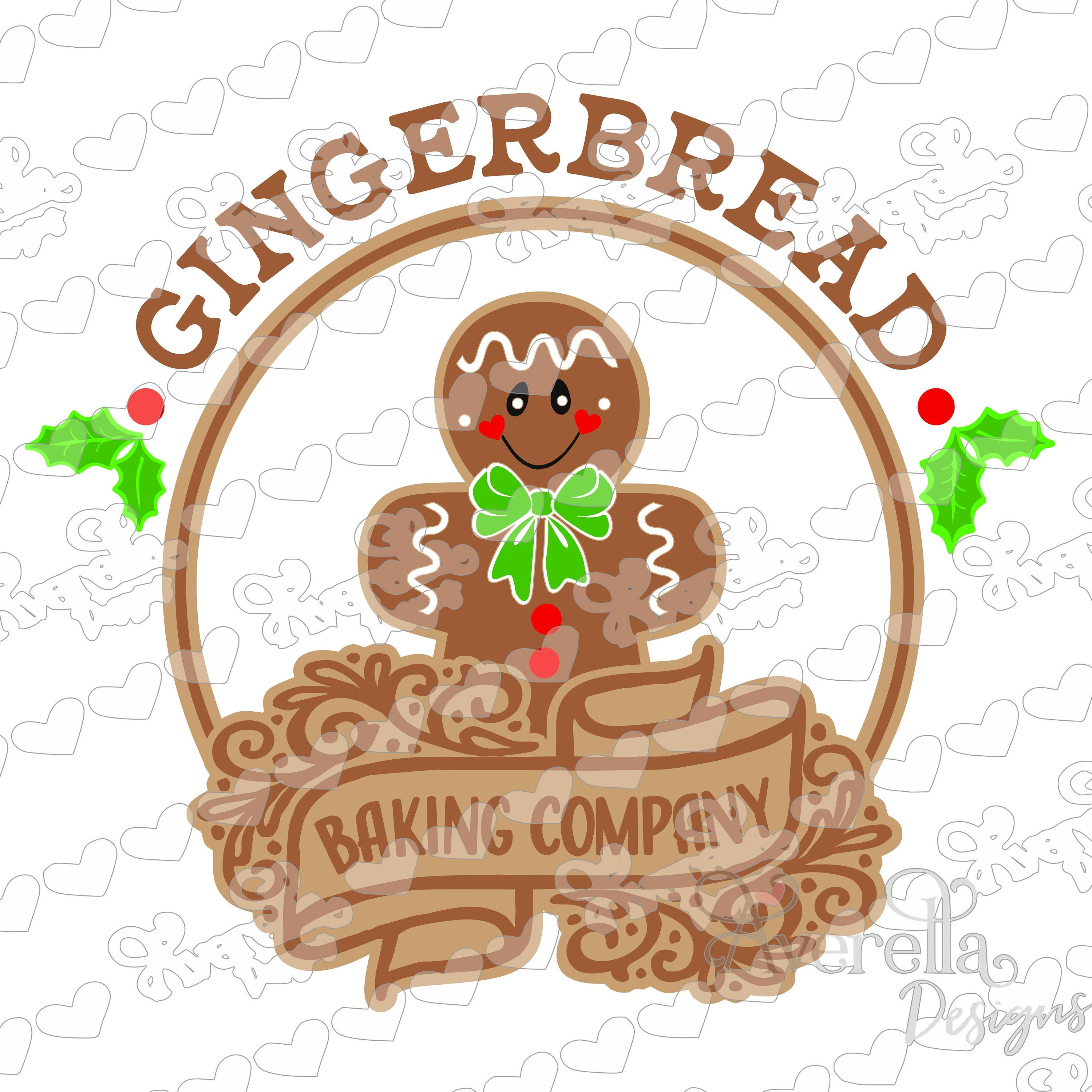 Gingerbread Baking Company SVG DXF PNG Christmas svg