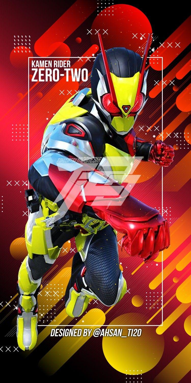 Kamen Rider Zero Two Designed By Ahsan S Ahsan Ti20a Latar Belakang Seni Gelap Konsep Karakter