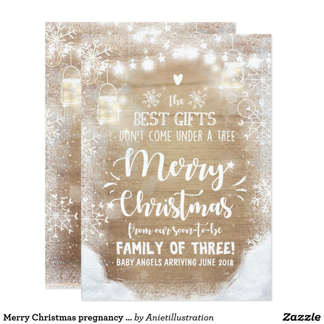merry christmas pregnancy announcement rustic pregnancy