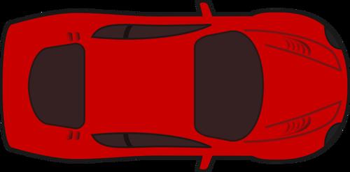 Red Racing Car Top View Vector Car Top View Top View Car Vector