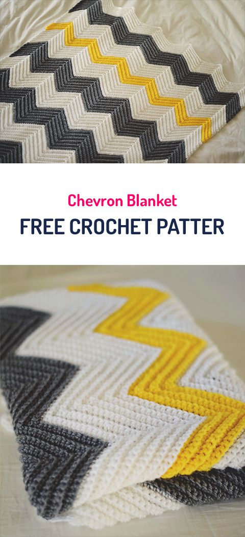 Chevron Blanket Free Crochet Pattern #crochet #crocheting #crocheted ...