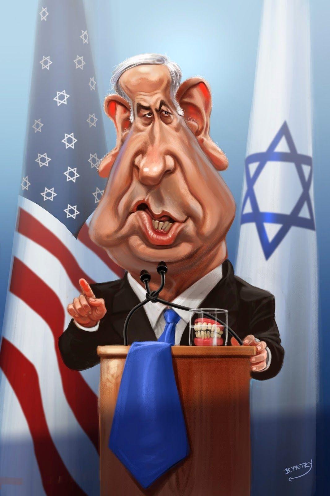 Resultado de imagen para Caricatura de Benjamin Netanyahu