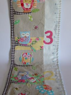 Owl Growth Chart By Roxy Creations Fabric Growth Chart Growth Chart Childrens Growth Charts